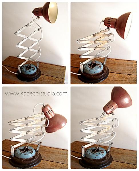 Lámparas de mesa y flexos de escritorio originales, baratos, antiguos estilo industrial y vintage
