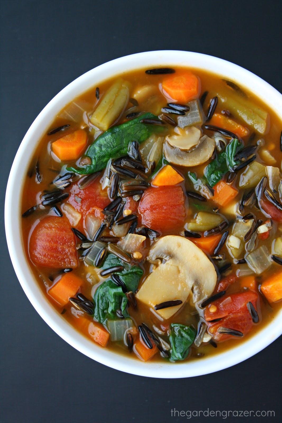 The Garden Grazer: Wild Rice Vegetable Soup