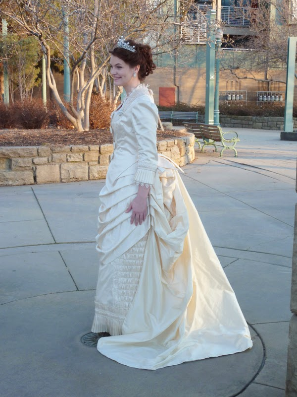 Beauty From Ashes: Mrs. Pryde\'s Late Natural Form Era Wedding Dress