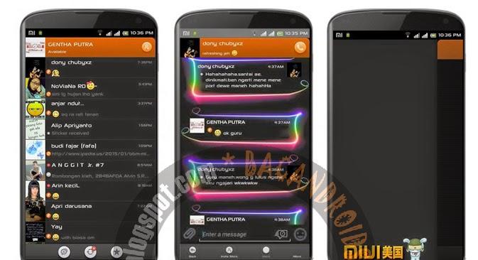 Download BBM Mod Blank Volution Neon Color Apk V2.6.0.30(New)