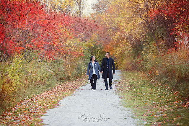 Fall Engagement Photos in Mississauga