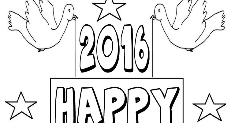 Coloring Pages For New Years 2016 :