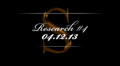 Research #4 - 04.12.13