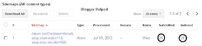 Google Webmaster tool Indexes 26 Pages only when you submit your blogger's sitemap