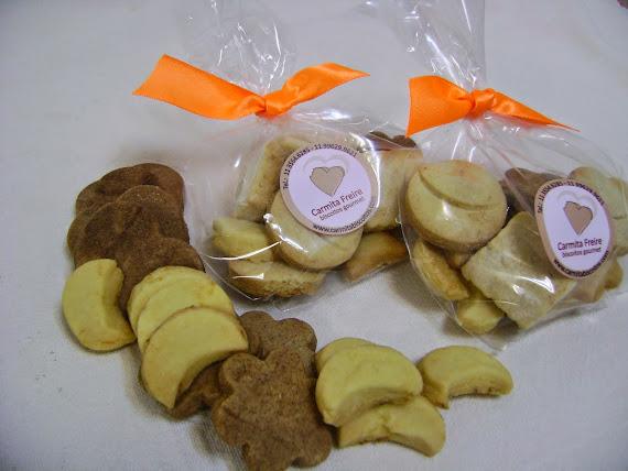 biscoitos amanteigados  saborizados