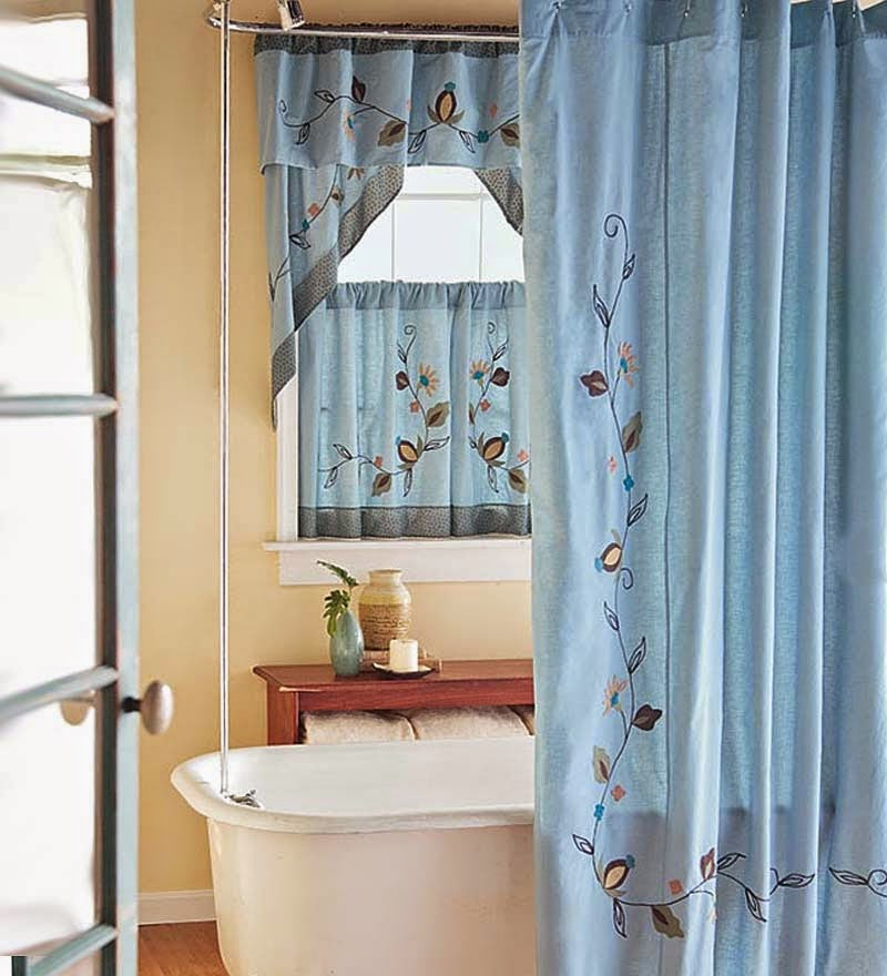 Orange And Aqua Curtains Shower Curtains with Valance F
