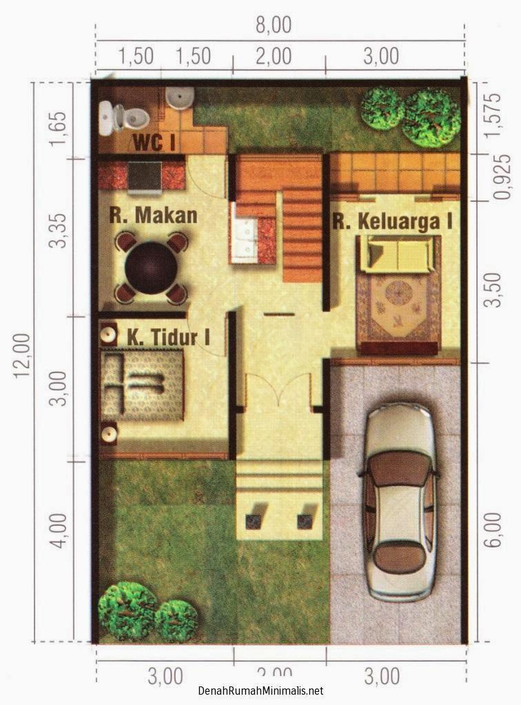 denah dan desain rumah tingkat minimalis terbaru 2014