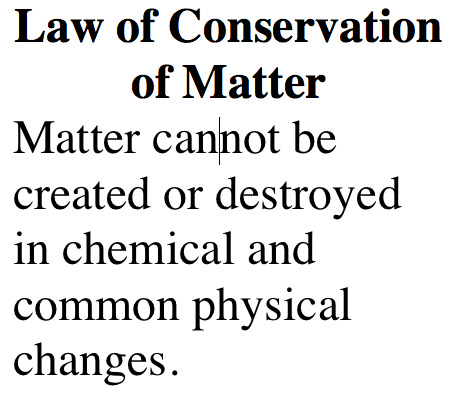 Law Of Conservation Of Matter 71801   RIMEDIA