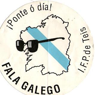 Campaña en favor do uso do galego do IES deTeis, Vigo