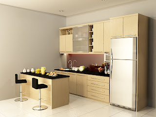 kitchen set, kitchen set murah, finishing hpl, kitchen set modern, meja bar