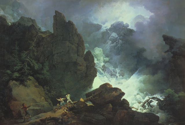 Avalanche, Loutherbourg,french painter