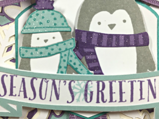 Cricut Christmas Penguin card