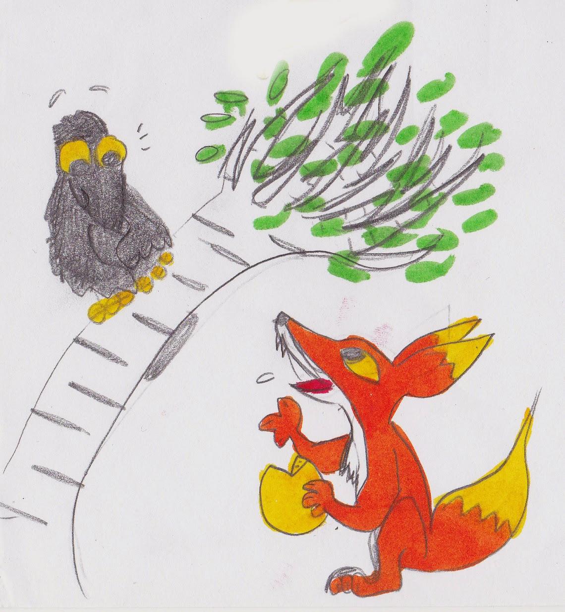 Le monde de fleufinette mes bd fantastiques dessins et autres choses illustration de la - Coloriage le corbeau et le renard ...