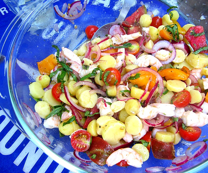Shrimp And Potato Salad Recipe — Dishmaps