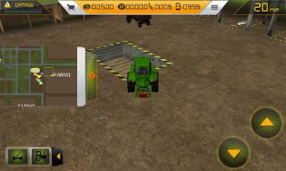 Screenshots of the Farm tractor simulator 3D for Android tablet, phone.