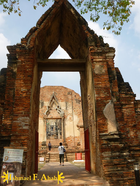 Entrance to Wat Ratchaburana in Ayutthaya Historical Park, Thailand