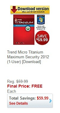 Trend Micro Titanium Maximum Security 2012 1 User Download Free After Easy Rebate From Staples