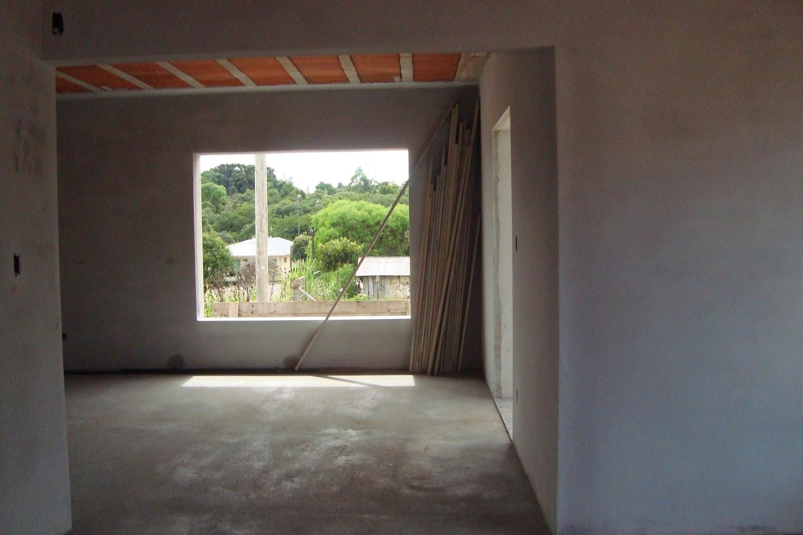 Casa da Claudia: Atualizando a Obra Reboco Parte Interna Finalizado #6F8645 1600x1066 Banheiro Com Janela Interna