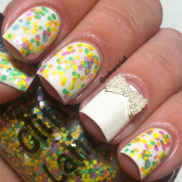 Glitter Lambs Nail Polish Pastel Macaroons Glitter Topper For Spring
