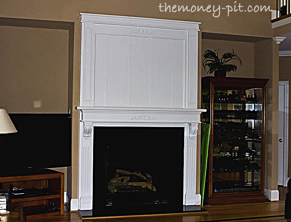 Customizing A Builder Grade Fireplace - The Kim Six Fix