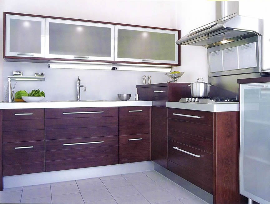 Beauty houses purple modern interior designs kitchen for Modern kitchen interior design ideas
