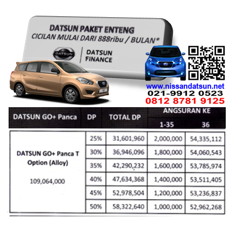 KREDIT DATSUN GO+ PANCA T OPTION ( ALLOY ) PAKET ENTENG