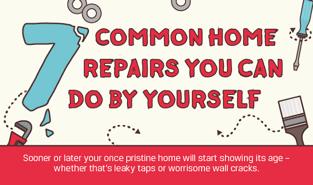 7 Common Home Repairs You Can Do By Yourself #infographic ...
