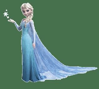 Elsa haciendo nieve