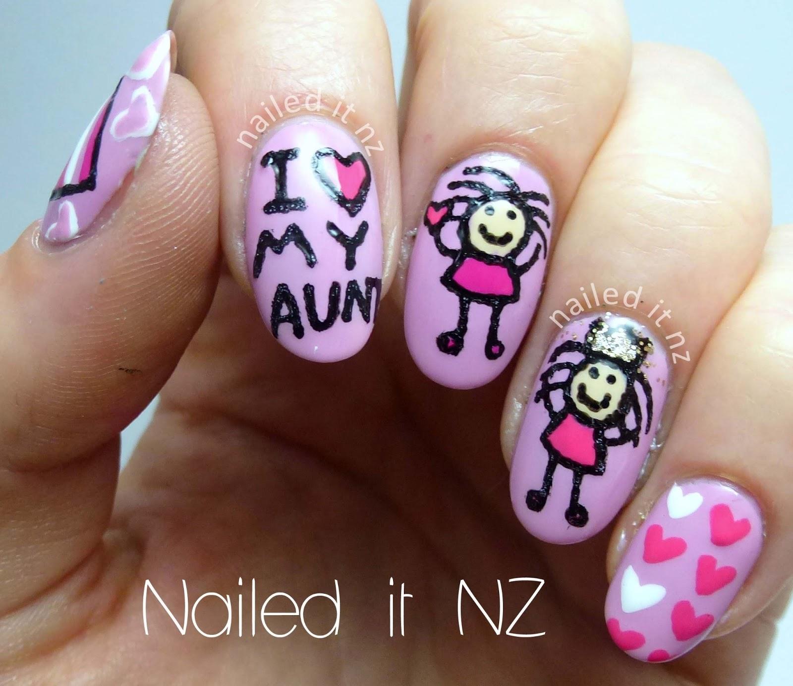 I love my Aunt nails!