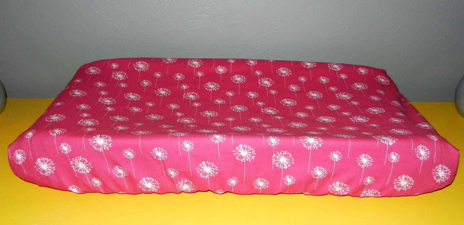 Sally Craft Candy Pink Dandelion Changing Pad Cover
