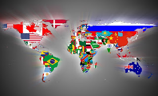 World Map All Countries Flags HD Wallpaper