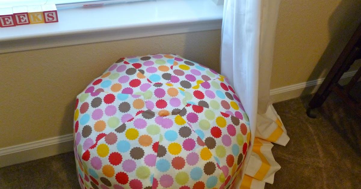 The Nome Knitter DIY Gum Drop Pillow Pattern Adorable Amy Butler Pouf Ottoman