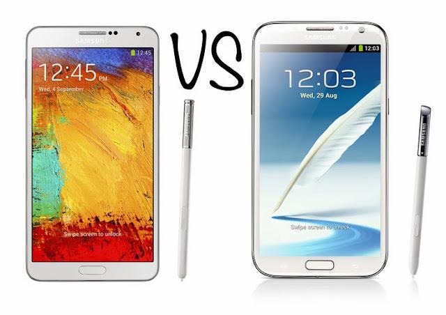 جوال Samsung Galaxy Note2  VS  Galaxy Note3