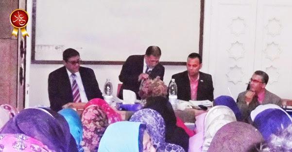 الاستاذ احمد ريشة في كلمته إلى المعلمين خلال اللقاء