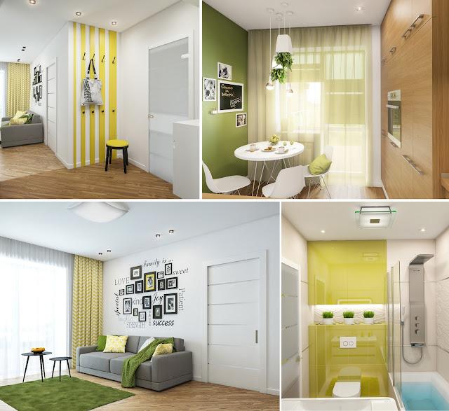Дизайн однокомнотной квартиры в ЖК Чайка