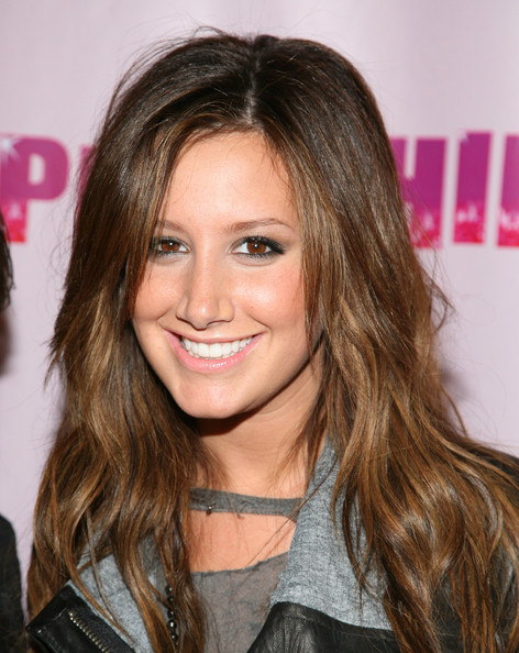photo of ashley tisdale with brown hair
