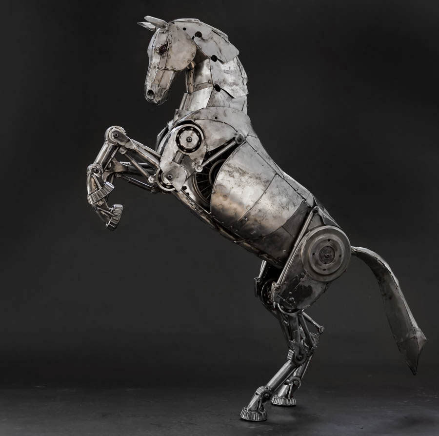 Ste unk Horses Scrap Metal Horses on robotic horses