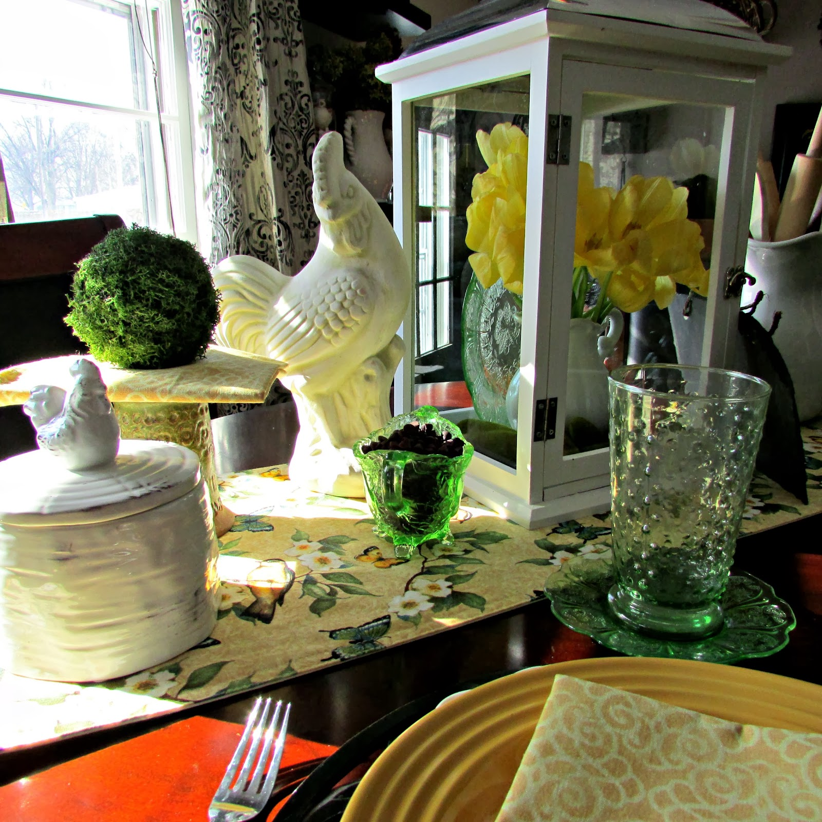 Yellow & White Dishes Tablescape