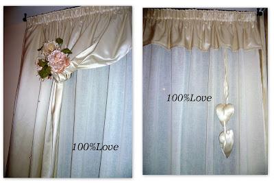 100 love tenda romantica - Tende con mantovana per camera da letto ...