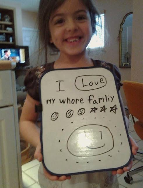 I love my whore family