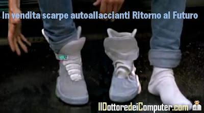 scarpe autoallaccianti ritorno al futuro