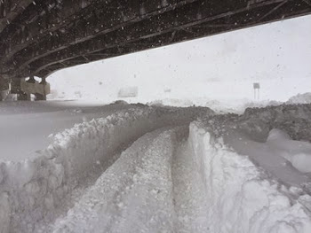 Thruway in WNY....That's Some Deep Snow