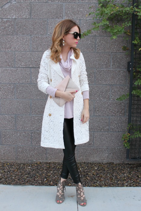 Lavender, Leather, Edgy, Dainty, Pastel, Outifit