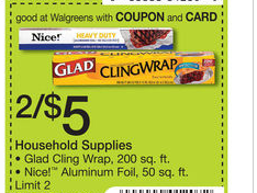 Get Glad Cling Wrap for $2 At Walgreens!