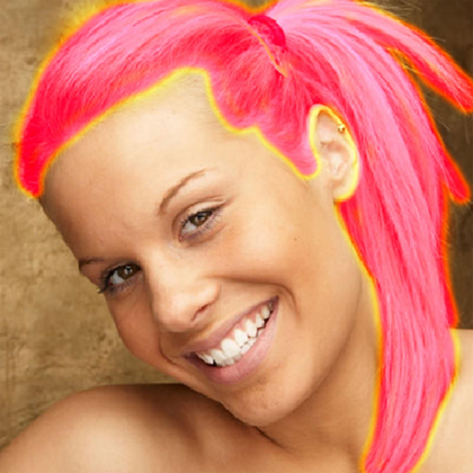 Меняет цвет волос на фото