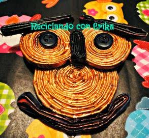 http://reciclajeconerika.blogspot.com.es/2014/06/el-buho.html