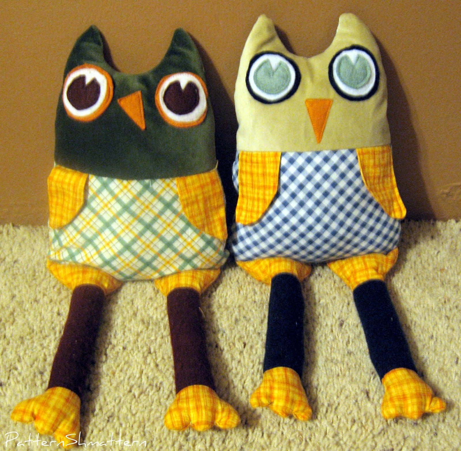 Pattern Shmattern Stuffed Animal Owl Pattern And Tutorial