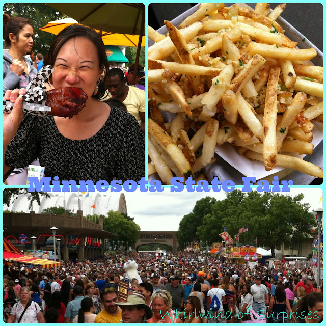 #turkey leg, garlic fries, and a packed crowd shows at the 2013 #Minnesota State #Fair #MNStateFair, travel