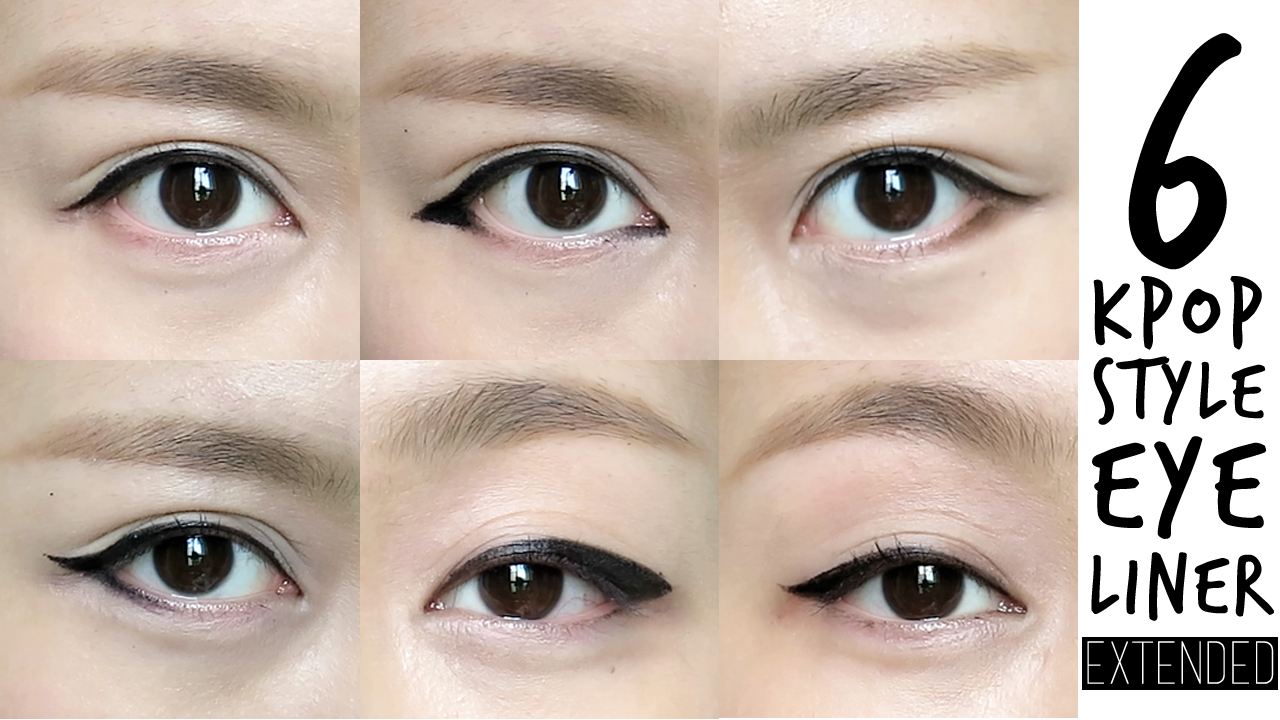 6 k pop inspired korean style eyeliners tutorial