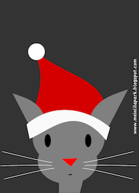 free Santa Clause Cat